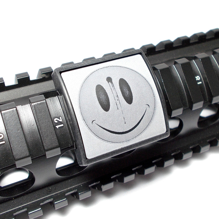 Smiley Face / Bullet Hole Rail Cover