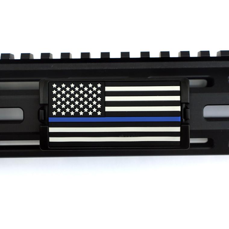 Blue Line Flag Stars Left KeyLok- Black Retainer