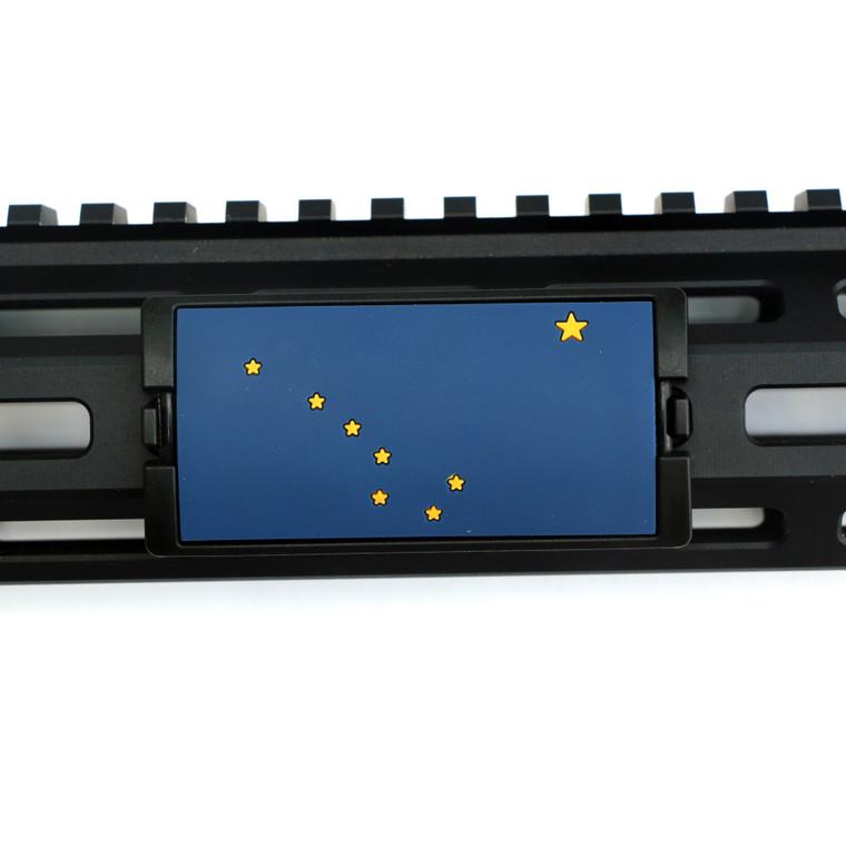 Alaska Flag PVC KeyLok Rail Cover- Black Retainer