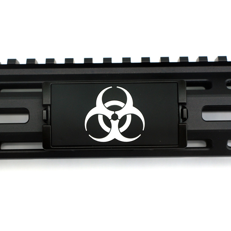 BioHazard PVC KeyLok Rail Cover- Black Retainer
