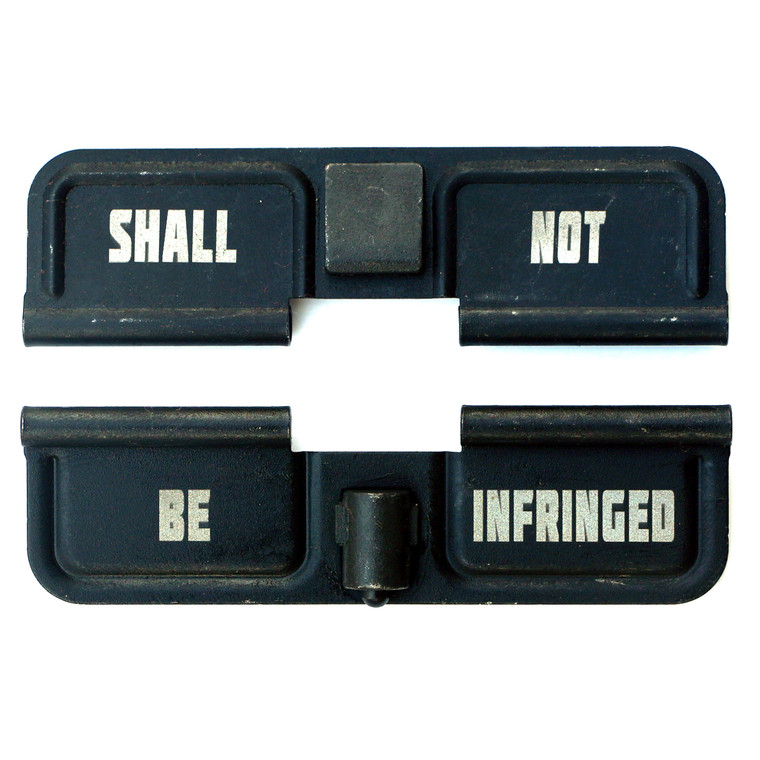 Shall Not Be Infringed  Double Sided Engraved Dust Cover