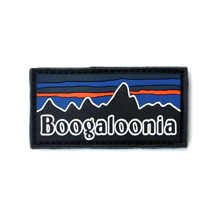 """Boogaloonia PVC Patch 3""""x 1.5"""""""