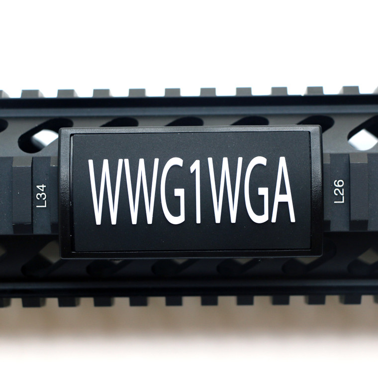 WWG1WGA PVC Picatinny Rail Cover- Black Retainer