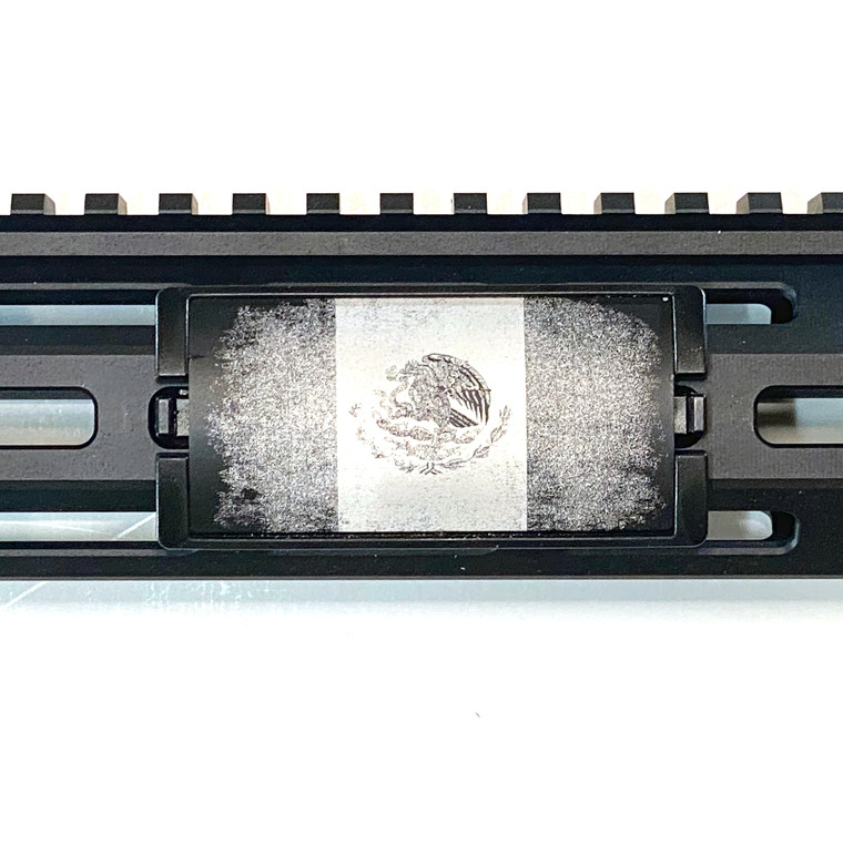 Mexican Flag Laser Engraved Aluminum KeyLok Black Retainer Rail Cover