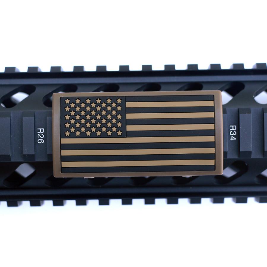 Tan US Flag Stars Left Picatinny - FDE Retainer