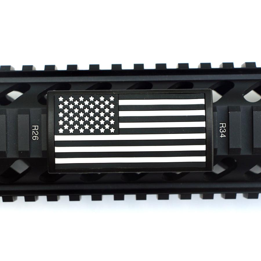 B&W US Flag Stars Left PVC Picatinny - Black Retainer