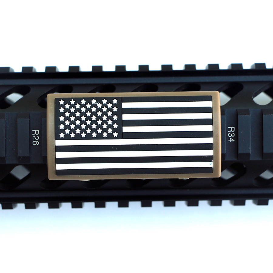B&W US Flag Stars Left PVC Picatinny - FDE Retainer