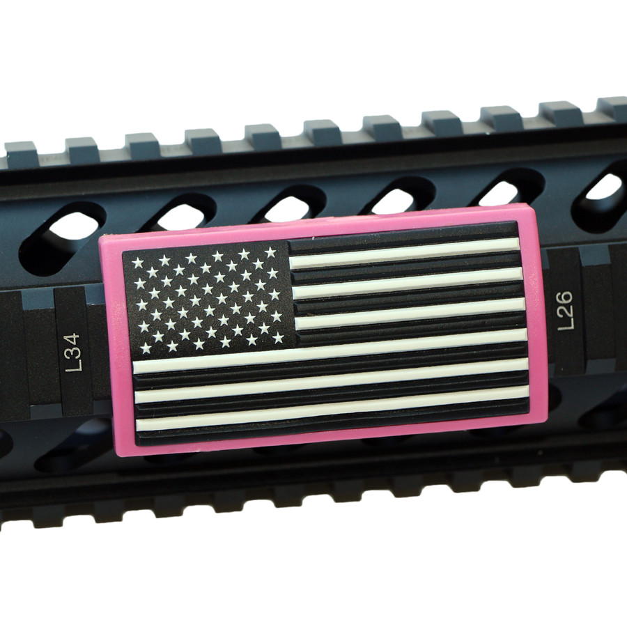 AMERICAN FLAG B&W- STARS LEFT- LGPVC