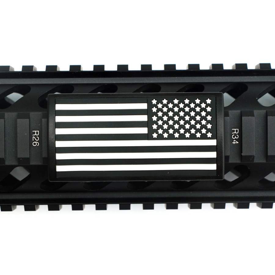 B&W US Flag Stars Right PVC Picatinny - Black Retainer