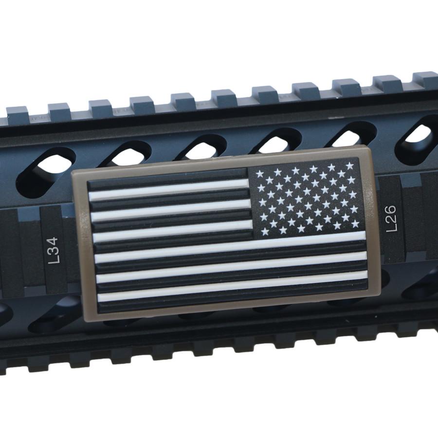 AMERICAN FLAG B&W- STARS RIGHT-LGPVC