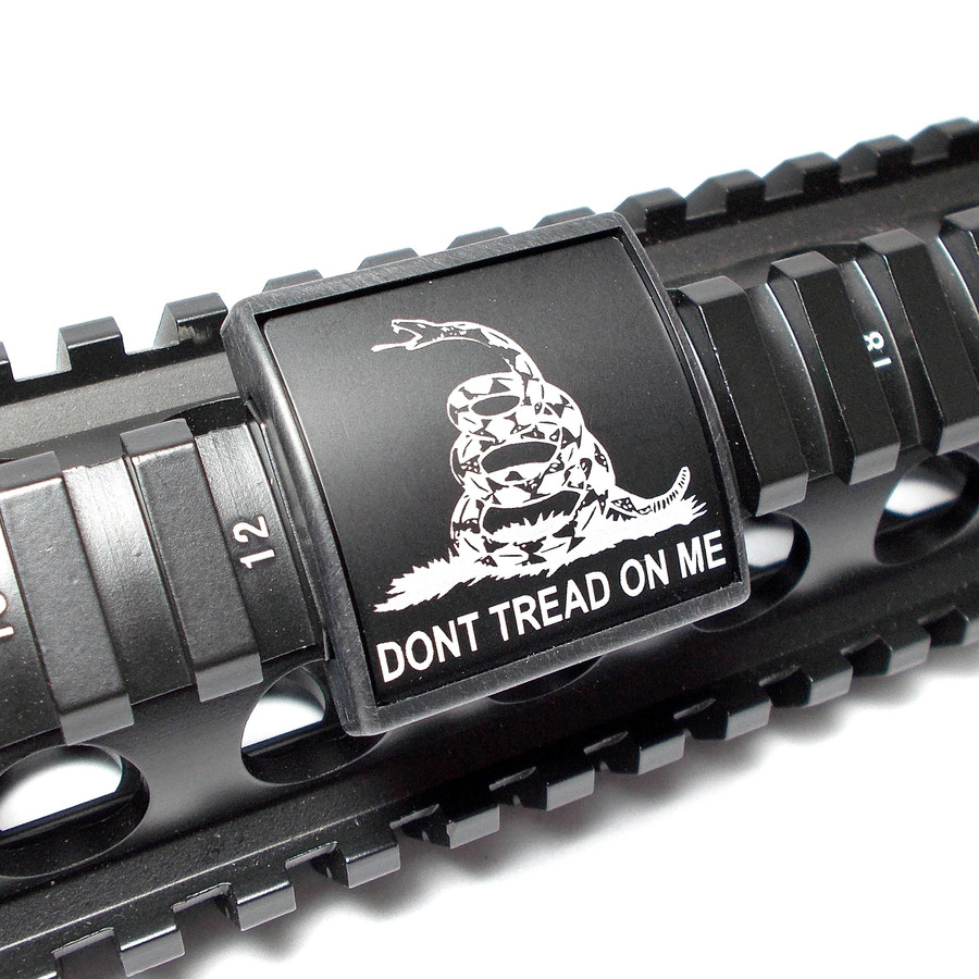DONT TREAD ON ME- SMALL LASER ENGRAVED ALUMINUM