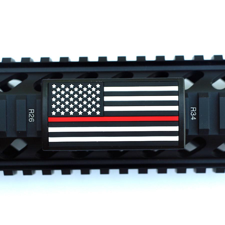 Red Line Flag Stars Left Picatinny- Black Retainer