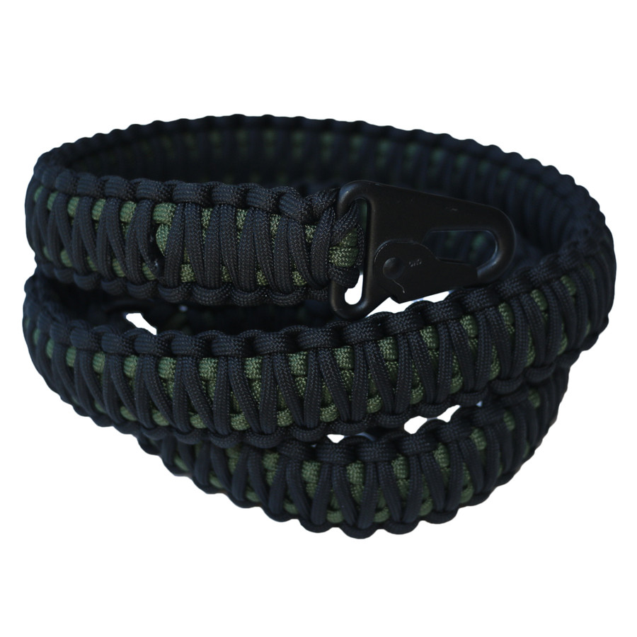 BLACK ON GREEN PARACORD SLING