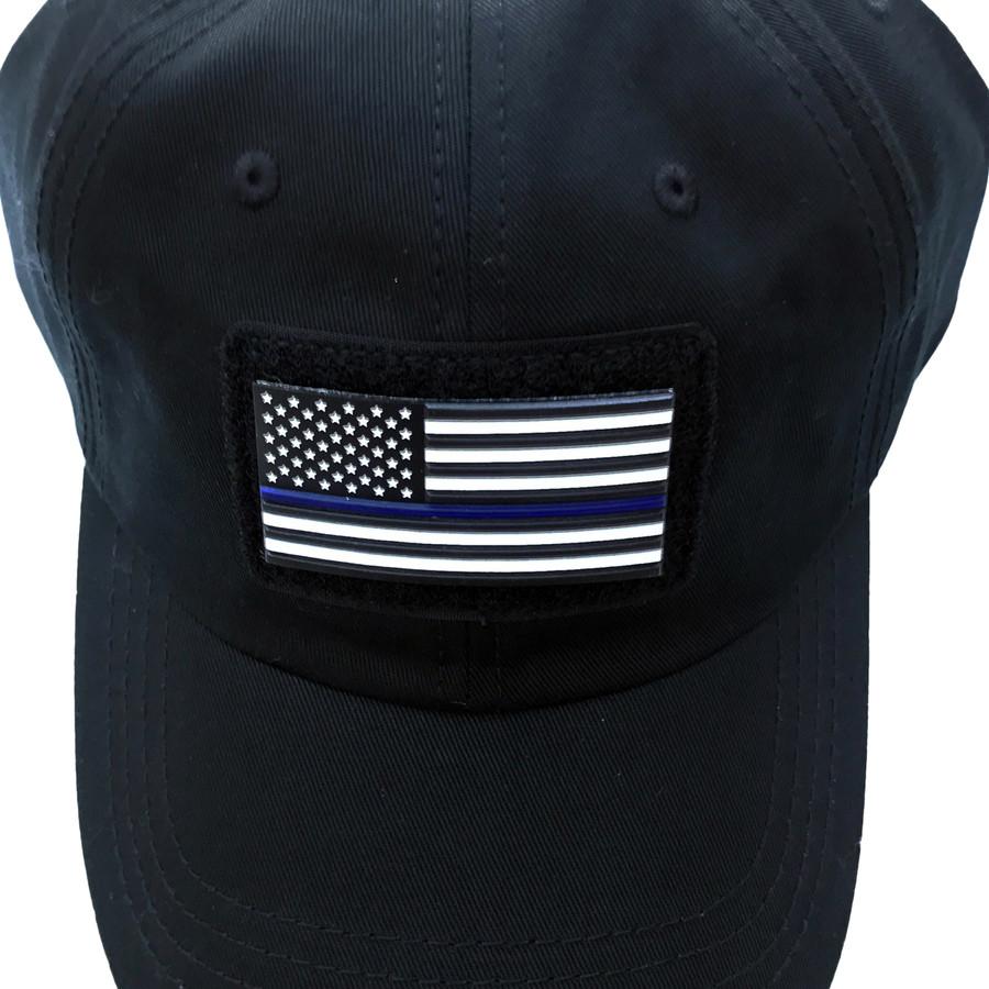 Blue Line US Flag Patch - Stars Left