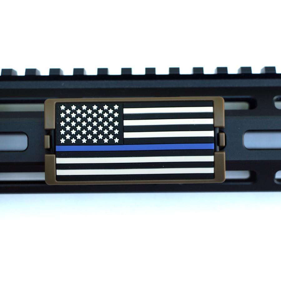 Blue Line Flag Stars Left KeyLok- FDE Retainer