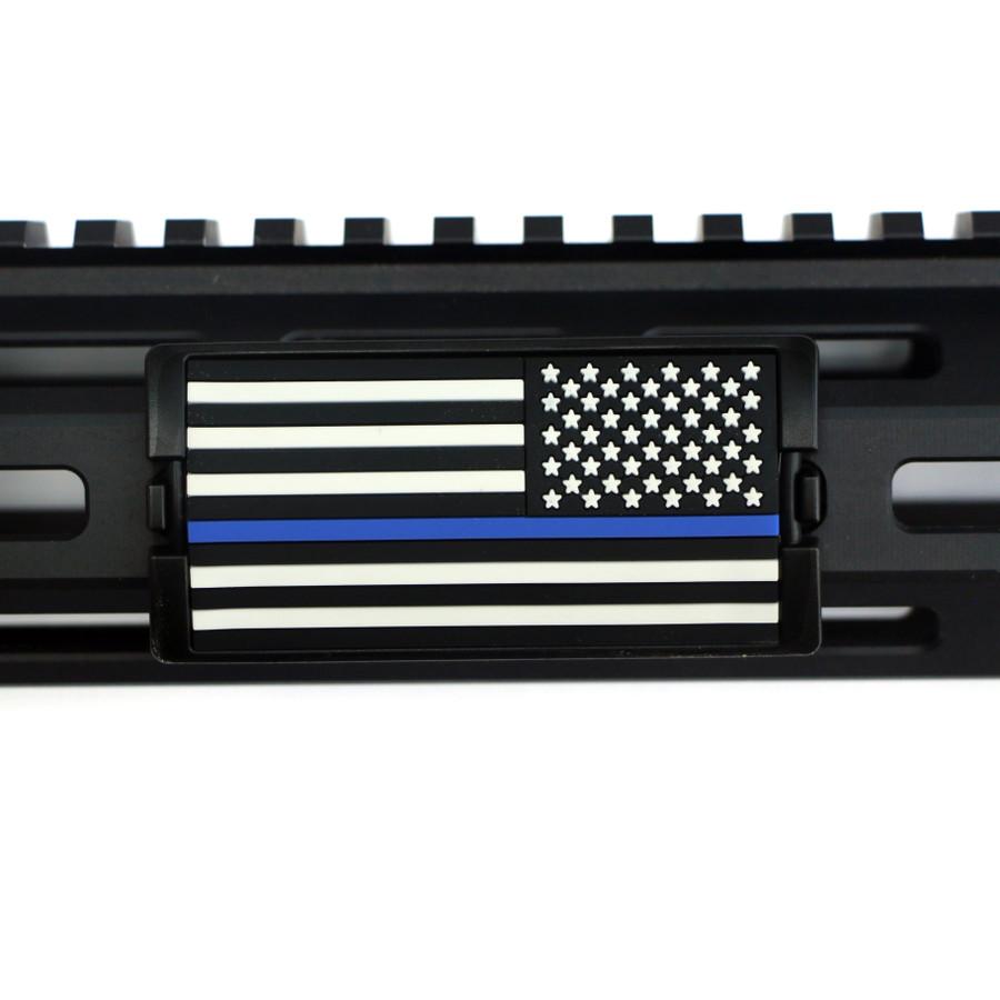 Blue Line Flag Stars Right KeyLok - Black Retainer