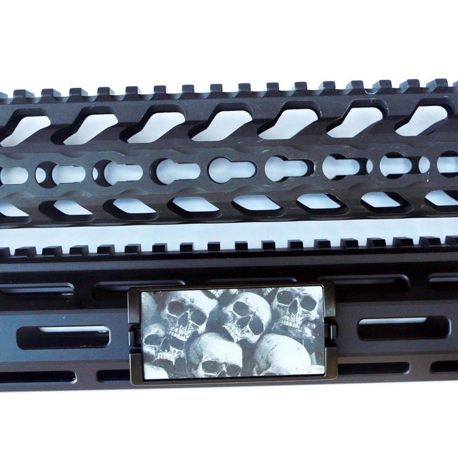 Skull Pile KeyLok Rail Cover- Black Retainer