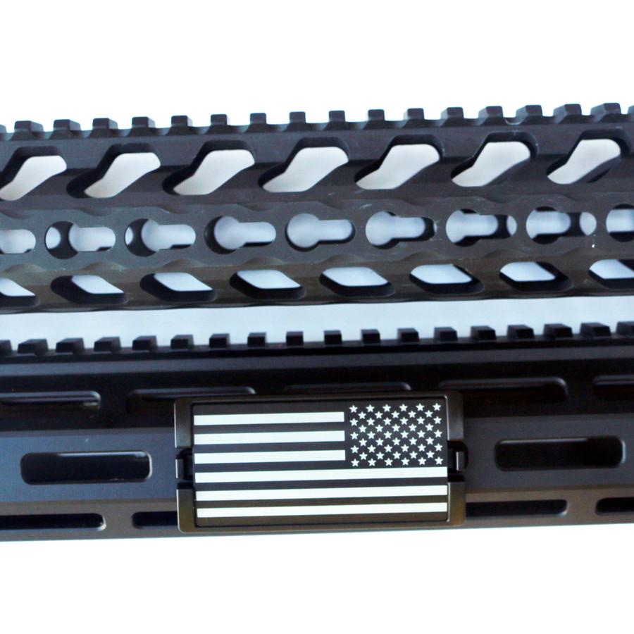 US Flag Laser Engraved Stars Right KeyLok Rail Cover- Black Retainer