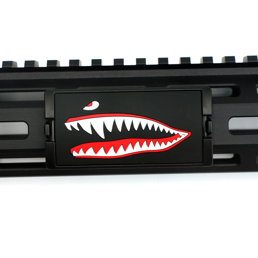 JAWS PVC (Facing Left) for KeyMod and MLOK rails - Black Retainer