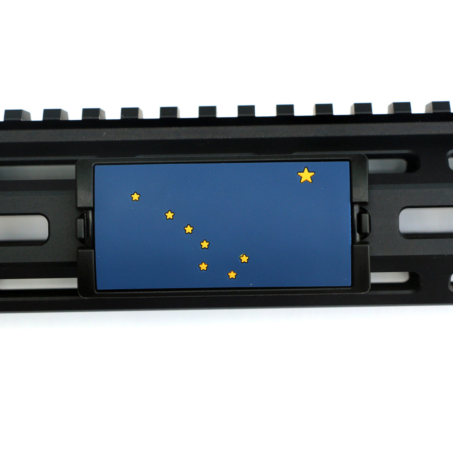 Alaska Flag PVC KeyLok Rail Cover- Black Retainer