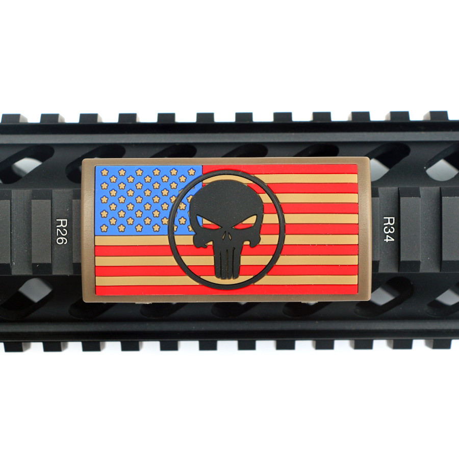 The End Is Nigh Stars Left PVC Picatinny Rail Cover- FDE retainer