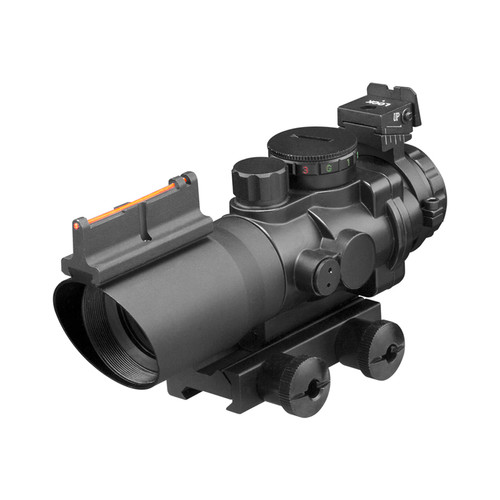 4X32 TRI ILLUMINATED SCOPE W/FIBER OPTIC SIGHT MIL-DOT RETICLE
