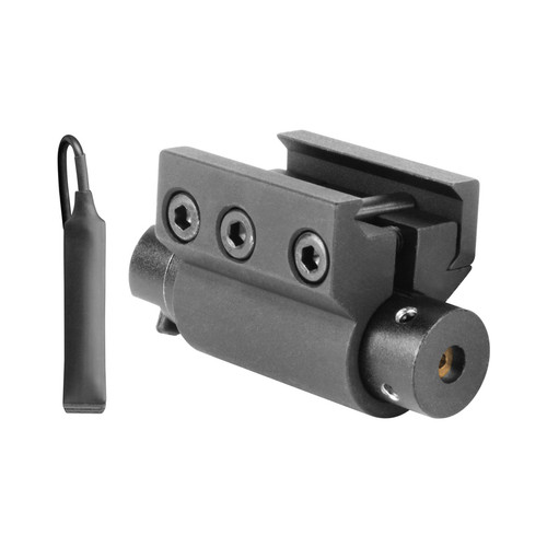 RED RIFLE LASER SIGHT W/ALLEN HEAD ADJUSTMENTS & PICATINNY MOUNT
