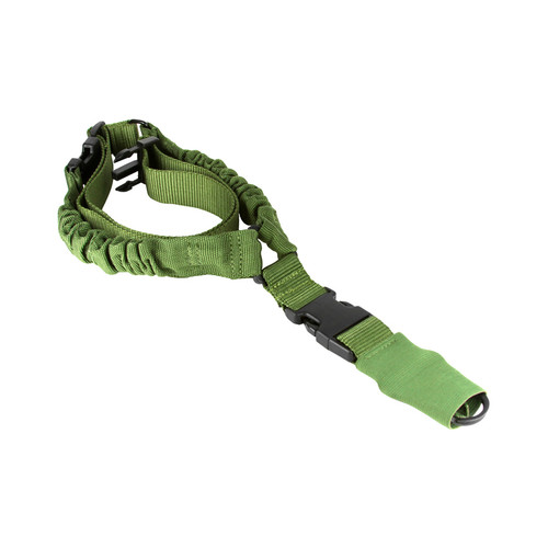 ONE POINT BUNGEE SLING/STEEL CLIP/SLEEVE (HEAVY DUTY)/GREEN