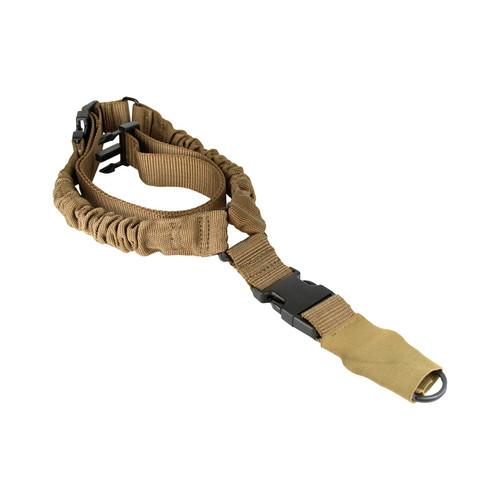 ONE POINT BUNGEE SLING/STEEL CLIP/SLEVE (HEAVY DUTY)/TAN