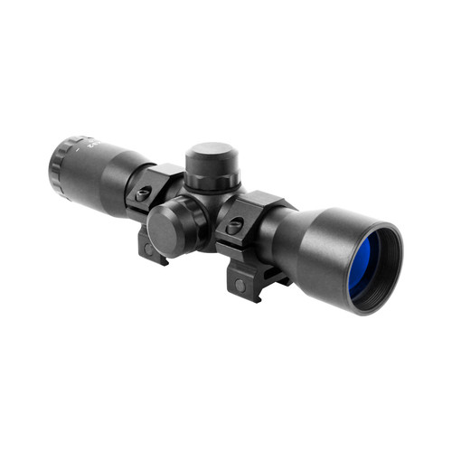 4X32 COMPACT MIL-DOT SCOPE W/RINGS