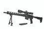 4.5 - 27 x 50 Magnification performance scope on a rifle locking windage and elevation adjustments