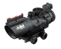 4X32 TRI ILLUMINATED SCOPE W/FIBER OPTIC SIGHT ARROW PLX RETICLE