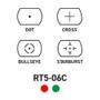 Dot Reticle Cross Reticle Bullseye Reticle Starburst Reticle