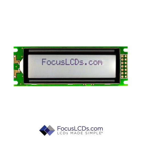 16x2 FSTN Character LCD C162FLBFKSW6WT55PAB