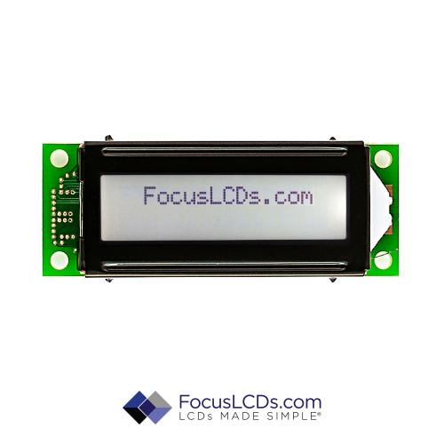 16x2 FSTN Character LCD C162LLBFKSW6WT55PAB