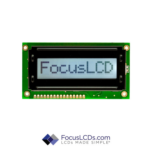 8x1 FSTN Character LCD C81CLBFKSW6WT55XAA
