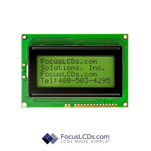 16x4 STN Character LCD C164ADBSGSY6WT55UAA