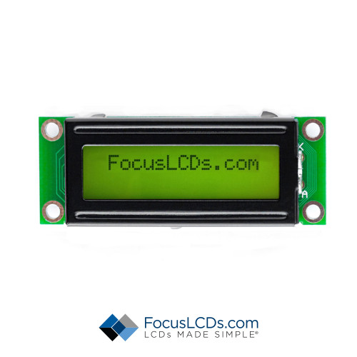 16x2 STN Character LCD C162LDBSYLG6WT