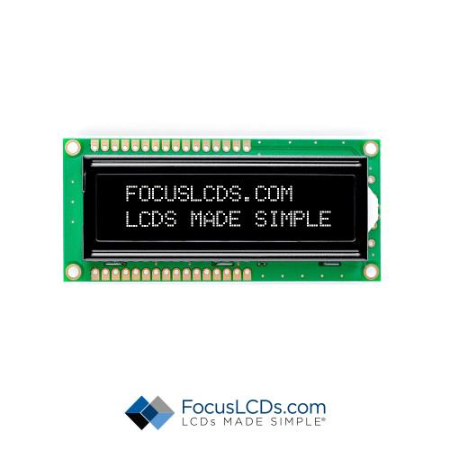 16x2 FSTN Character LCD C162ALBFGSW6WN55PAB