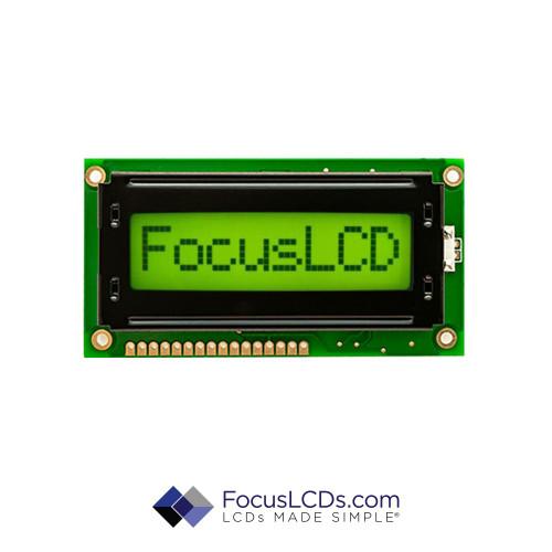 8x1 STN Character LCD C81ALBSYLY6WT33XAA