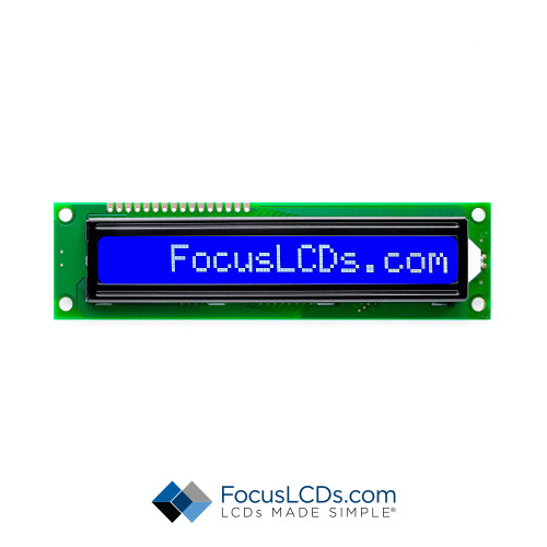 16x1 STN Character LCD C161BLBSBSW6WNC3XAA