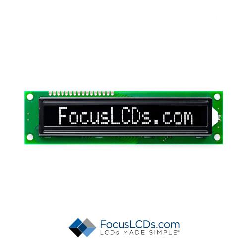 16x1 FSTN Character LCD C161BLBFKSW6WNC3XAA