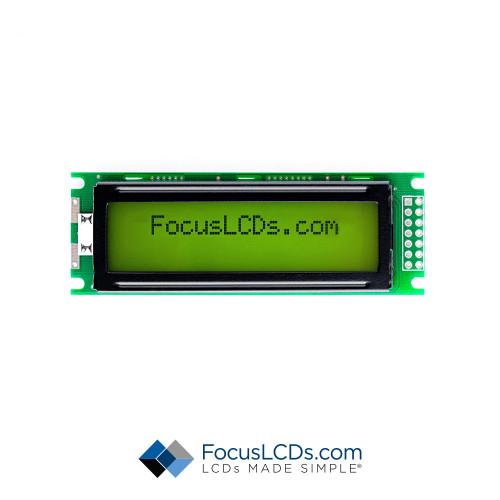 16x2 STN Character LCD C162ALBSYLY6WT33PAB