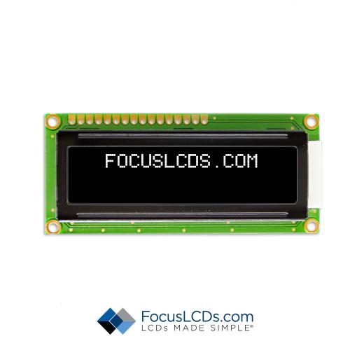 16x2 UWVD Character LCD C162ALBVGSW6WN55PAB