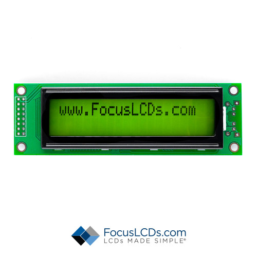 20x2 STN Character LCD C202BLBSYLY6WM