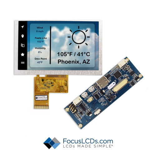 "5.0"" TFT HDMI Kit for E50RG38048LW2M350-N"