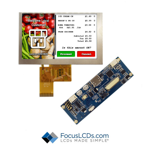 "5.0"" TFT HDMI Kit for E50RG68048LWAM700-N"