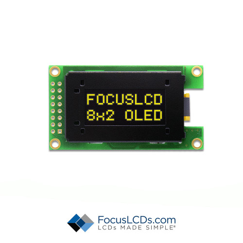 8x2 Character OLED O82A-CY-SS3