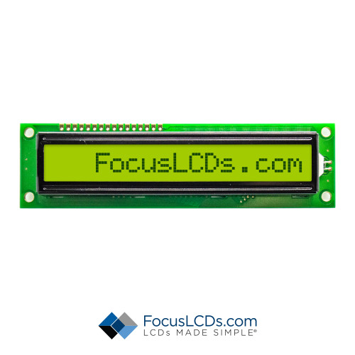 16x1 STN Character LCD C161B-YTY-LW65