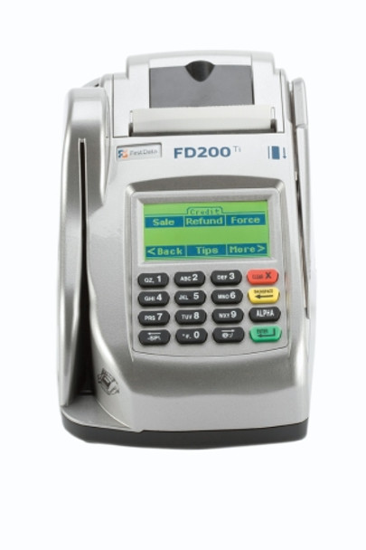 First Data FD200Ti Credit Card Terminal w/ Check Reader